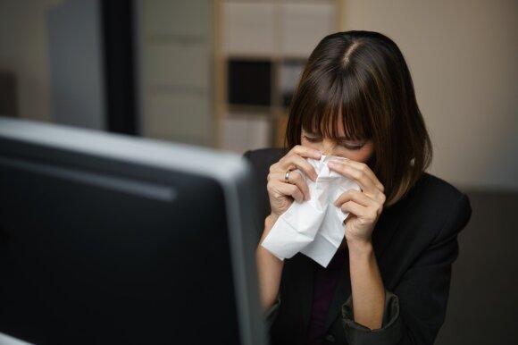 Gydytojai nuogąstauja, kad gripas dar tik ateina: 2 rajonai – ant epidemijos slenksčio