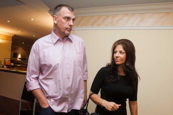 Gintaras Einikis su žmona Jurgita