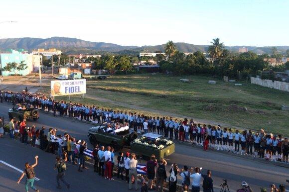 Kuboje palaidotas F. Castro