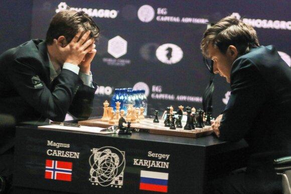 Magnusas Carlsenas ir Sergejus Kariakinas