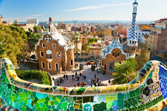 Barselona Gaudi parkas