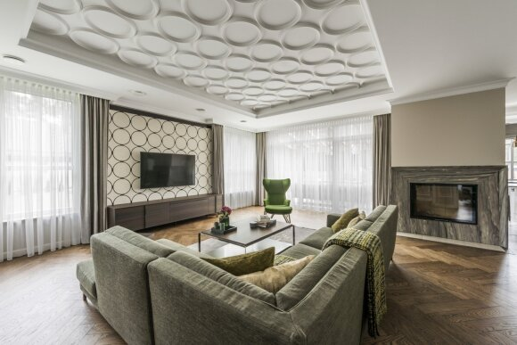 300 kv.m namas Vilniuje: ramybės kupiną atmosferą padėjo sukurti skoninga prabanga