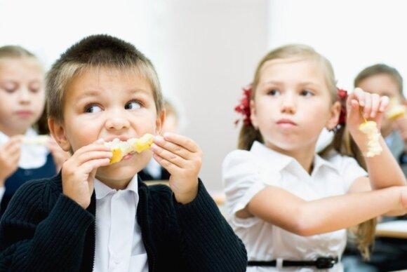 vaikai, maitinimas, mokinys, mokykla, moksleivis, berniukas, mergaitė