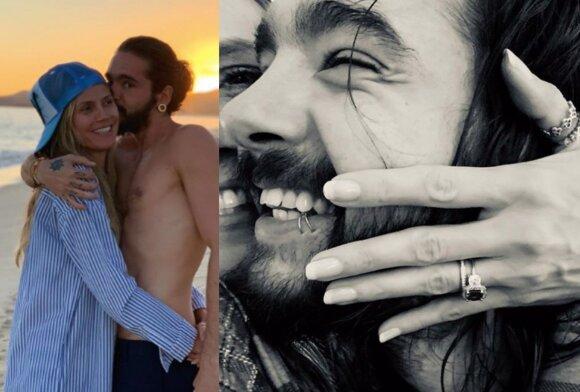 """Heidi Klum ir muzikinės grupės """"Tokio Hotel"""" narys Tomas Kaulitzas"""