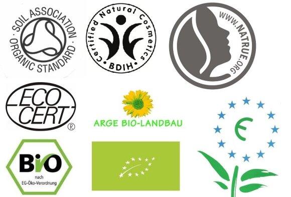 Dažniausiai Europoje naudojami ekologiškus produktus žymintys ženklai