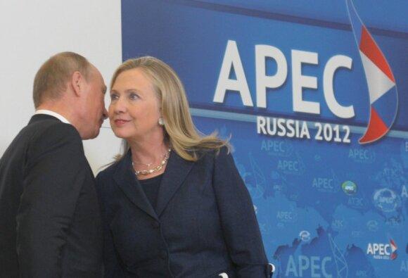 Vladimiras Putinas, Hillary Clinton