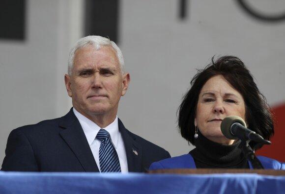 Mike'as Pence'as su žmona Karen Pence