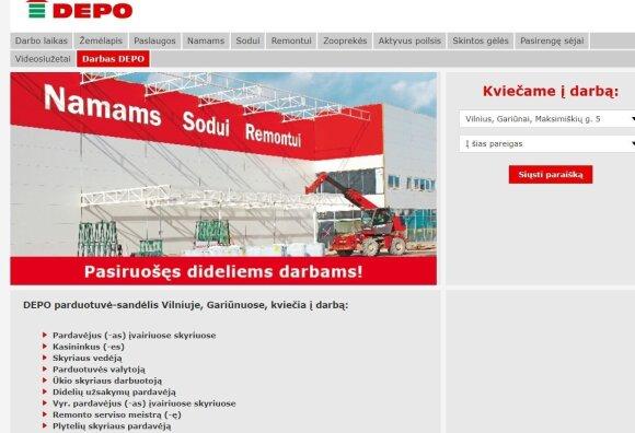 DEPO svetainė