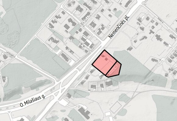 Nemenčinės plente planuojamas prekybos centras