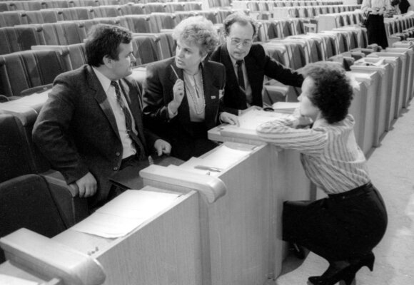 Laima Andrikienė, Kazimira Prunskienė ir Gediminas Vagnorius