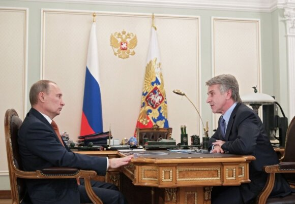 Leonidas Michelsonas su Vladimiru Putinu