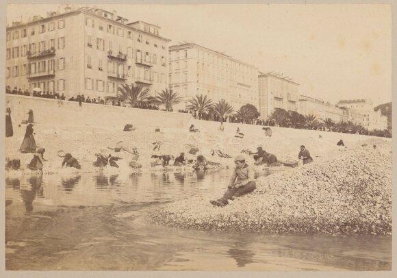 Nica. Nicos pakrantė. Kasdienybės scena. 1892 m. sausio mėn. – 1892 m. balandžio mėn. Fotografijos muziejaus rinkinys