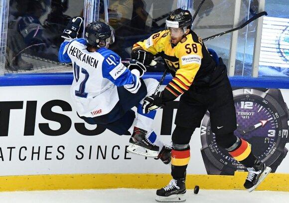 Pasaulio ledo ritulio čempionatas: vokietis Markusas Eisenschmidas griauna suomį Miro Heiskaneną