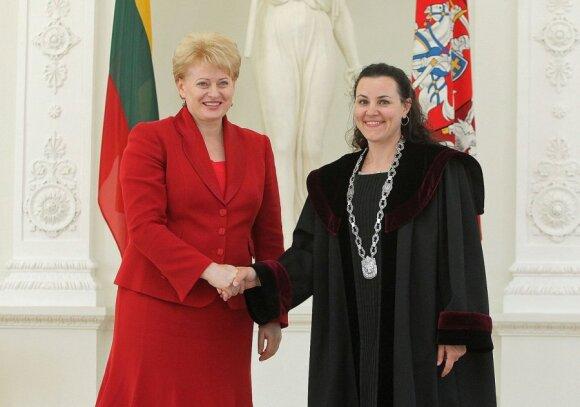 Prezidentė Dalia Grybauskaitė ir teisėja Judita Sungailaitė