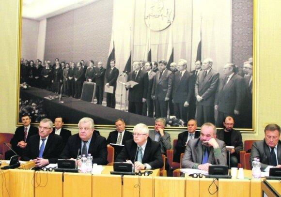 Žemės ūkio bendrovių vadovai susitikime Seime