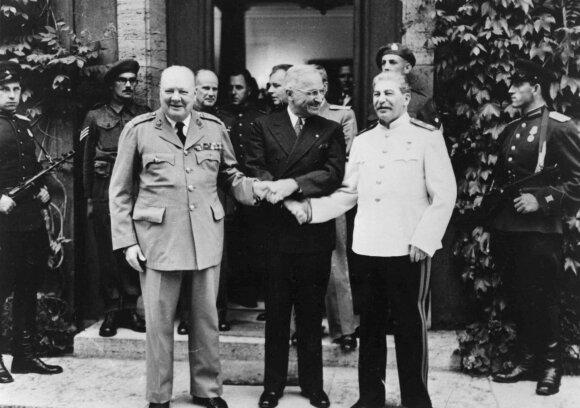 Winstonas Churchillis, Garry'is Trumanas ir Josifas Stalinas