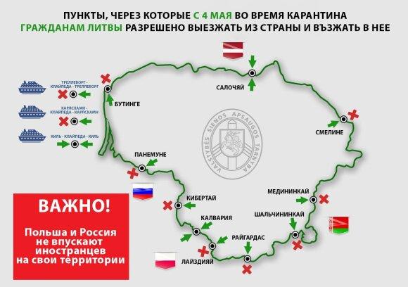 Смягчения условий карантина: жители Литвы смогут выезжать за границу