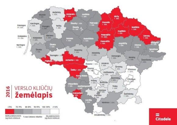 Sudarytas verslo kliūčių žemėlapis: prasčiausia situacija - Kupiškio rajone