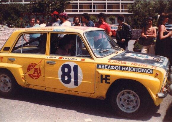Stasys Brundza (Akropolio ralis, Graikija 1977)
