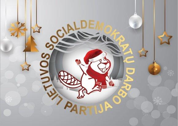 Lietuvos socialdemokratų darbo partijos kalėdinis atvirukas