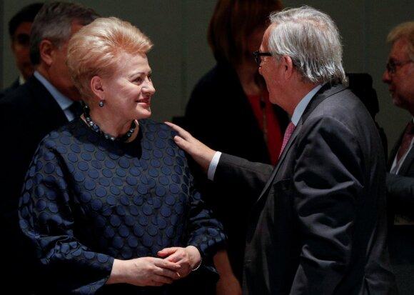 Dalia Grybauskaitė, Jeanas Claude'as Junckeris