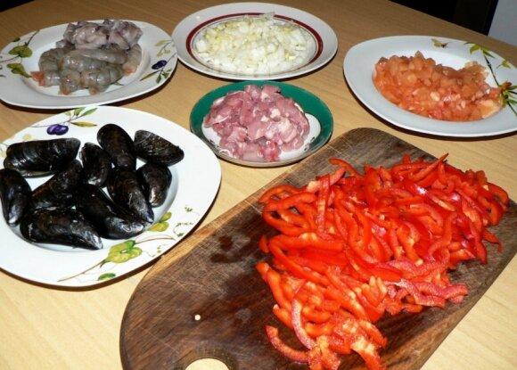 Spalvingoji ispaniška paelija (foto pažingsniui!)