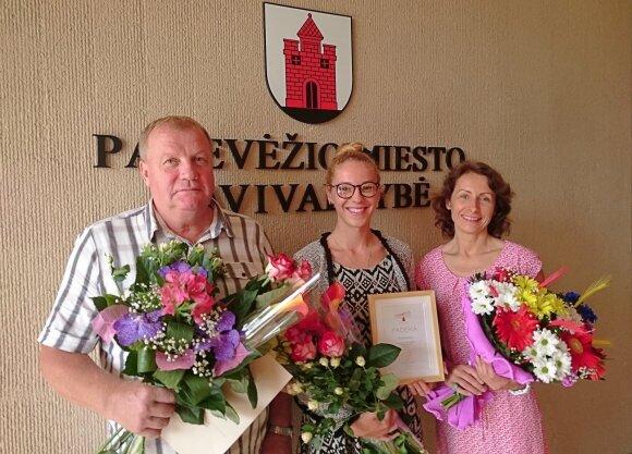 Antanas Jakimavičius (kairėje), Solveiga Baleišytė (dešinėje, Foto: ldsf.lt)