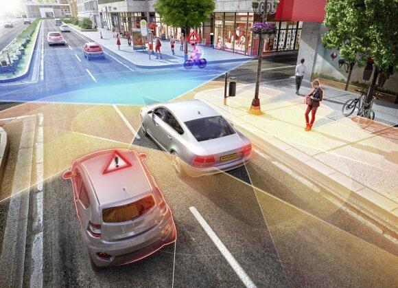 Jutikliai yra pažangių vairuotojo pagalbinių sistemų pagrindas