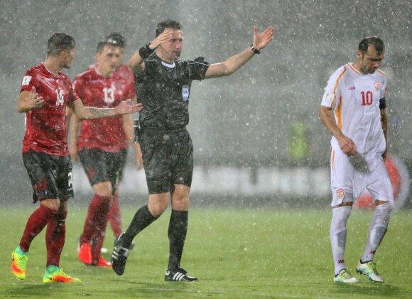 Nutrauktos Albanijos ir Makedonijos rinktinių rungtynės