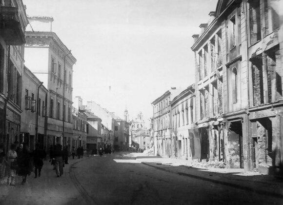 Vokiečių gatvė. 1944 m. po karo