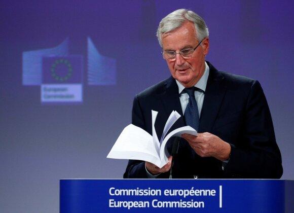 """ES ir Britanija paskelbė 585 puslapių """"Brexit"""" sutarties projektą"""
