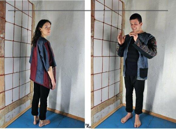 Ėmėsi netradicinio verslo: drabužius siuva iš jau panaudotų rūbų