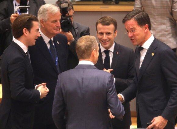 """ES šalių lyderiai sekmadienį pritarė """"Brexit"""" susitarimui"""
