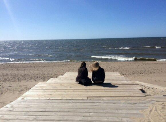 Youth at the Klaipėda port