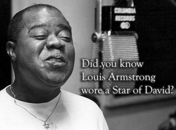 Ar žinojote, kad Luisas Armstrongas nešiojo Dovydo žvaigždę? Nuotraukos iš Džeikobo Karno archyvo.