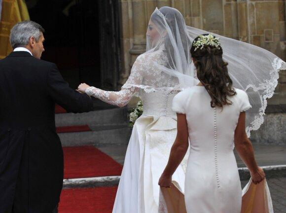 Pippa Middleton sesers Kate vestuvių dieną