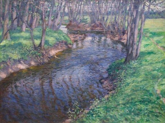 """Petro Kalpoko (1880–1945) """"Upelis pavasarį"""""""