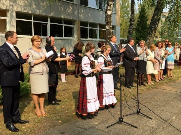 1-го сентября в школе им.Скорины (Вильнюс)