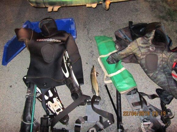 Iš žvejo konfiskuoti įrankiai