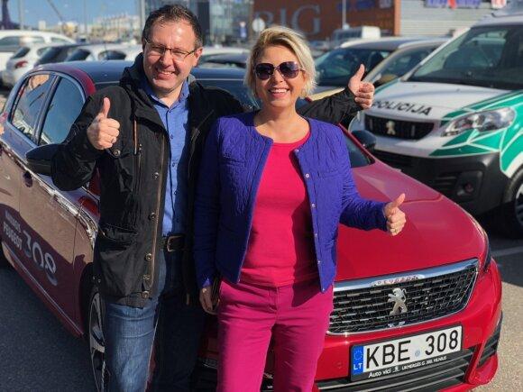 """Peugeot"" komanda Vitalijus Eidimtas ir Renata Odinienė"
