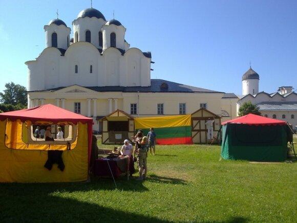 Литовцы продемонстрировали ремесла в Великом Новгороде