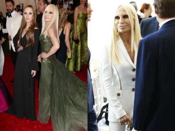 Allegra ir Donatella Versace