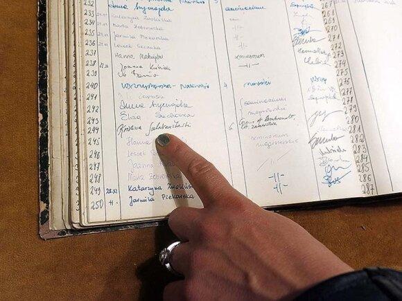 Skaitytojų registracijos knygoje Kristinos Sabaliauskaitės įrašas iš 2001-ųjų.