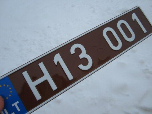 Istorinių automobilių valstybiniai numeriai