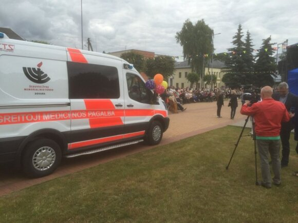 Ambulance car, a gift from Šeduva Jewish Memorial Fund