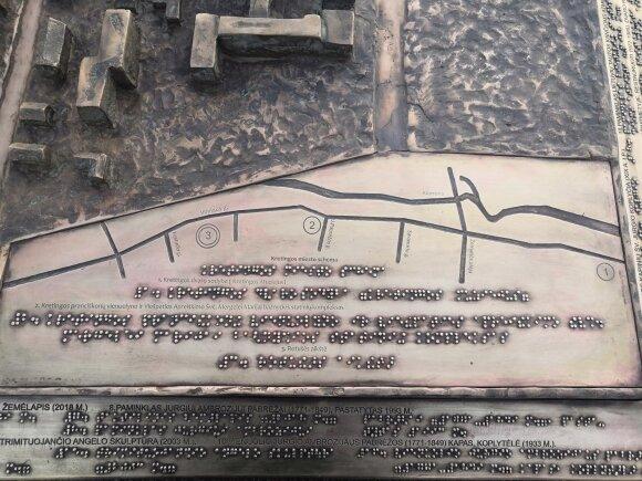 Kretingoje – nauja puošmena: atsirado taktilinis žemėlapis