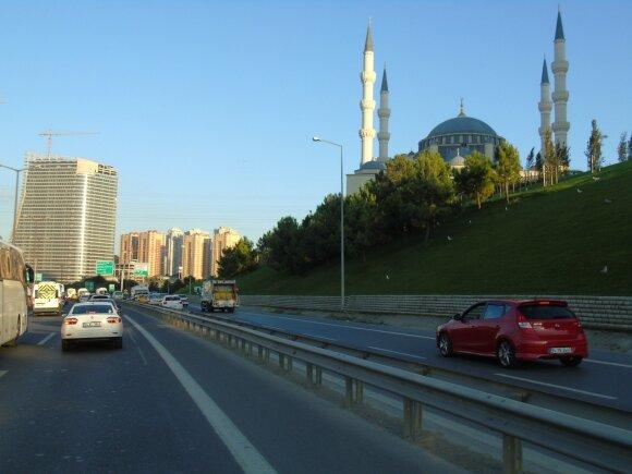 Penkto numerio turkiška gelžbetonio mečetė. Stambulas, Turkija