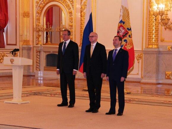 Sergejus Lavrovas, Renatas Norkus, Dmitrijus Medvedevas
