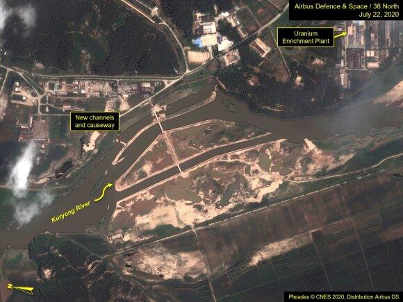 Potvynis Šiaurės Korėjoje galėjo apgadinti branduolinį kompleksą