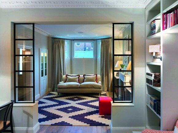 Namas Londone: kai susipina klasika ir drąsūs dizaino sprendimai